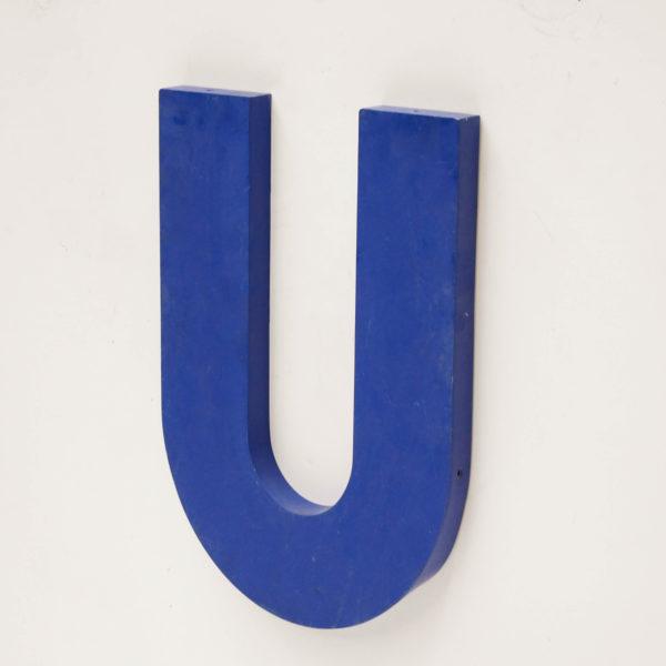 Old signboard letter U anciellitude