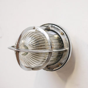 Upright wall light, glass with wide stripes anciellitude