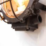 applique ronde grillagée fonte d'acier patinée anciellitude