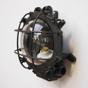 Wall light, patinated cast iron  anciellitude