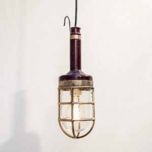 Inspection lamp with red bakelite anciellitude