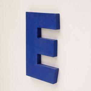 Old signboard letter E anciellitude