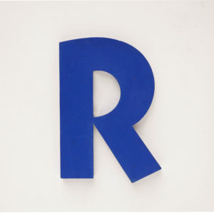 Old signboard letter R anciellitude