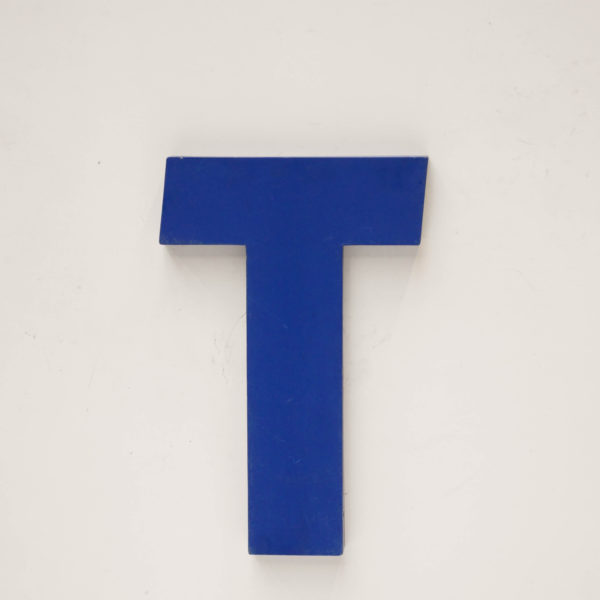 Old signboard letter T anciellitude