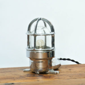 Chrome plated brass small lamp anciellitude