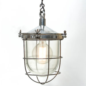Ceiling lamp, glass globe with fence anciellitude