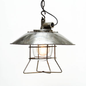 Factory ceiling lamp made in steel anciellitude