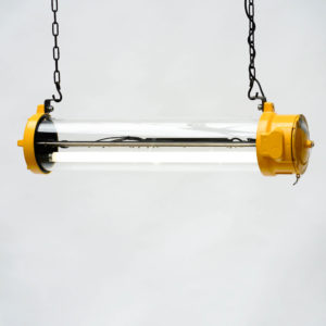 Anti-Deflagration Fluorescent Lamp Fully Restored. (ceiling lamp) anciellitude