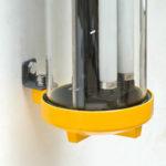 Fluo anti-déflagration restauré (applique murale) anciellitude