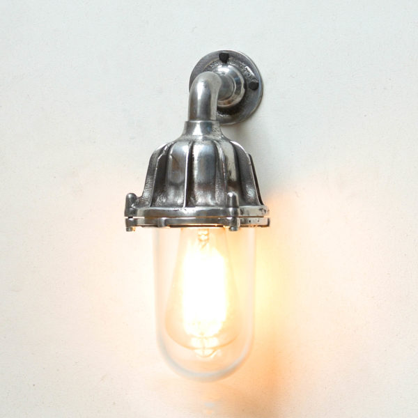 Vance's wall light, transparent glass anciellitude