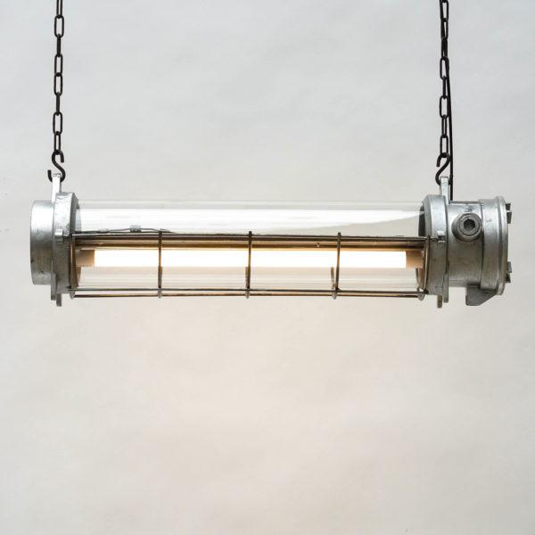 Fluo en fonte d'aluminium grillagé (suspension) anciellitude