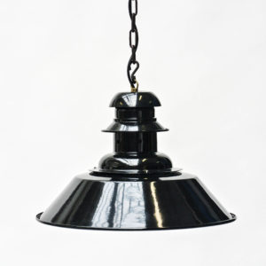 Black Ceiling Light with Perforated Neck Anciellitude