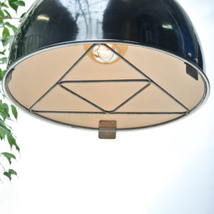 Black Ceiling Light with Geometric Shape Grid Anciellitude