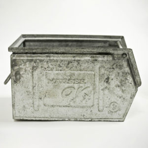 Small Galvanized Metallic Crates (Varnished) Anciellitude