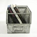 Small Galvanized Metallic Crates (Varnished) Anciellitude
