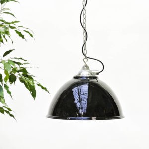 Ceiling Lamp in Steel, Repainted in Brilliant Epoxid Paint anciellitude