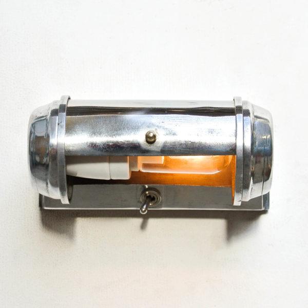 Anciene liseuse en fonte d'aluminium et laiton chromé anciellitude