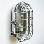 large Oval Wall Light with Fence anciellitude
