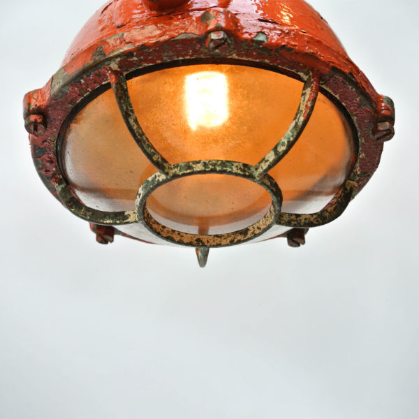 Orange Ceiling Lamp Anciellitude