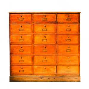 Vintage Notary Cabinet with Flaps anciellitude