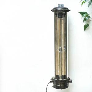 Fluo en fonte d'aluminium patiné à double ampoule anciellitude