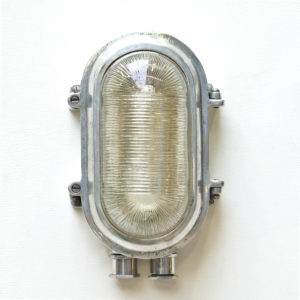 "Wall Light, Glass with Stripes, ""Portfolio"" Opening"" System anciellitude"