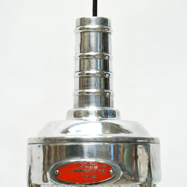 Baladeuse au verre à larges stries, grille en laiton anciellitude