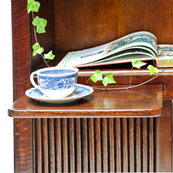 Ancien meuble de notaire à rideaux, « petite version » anciellitude