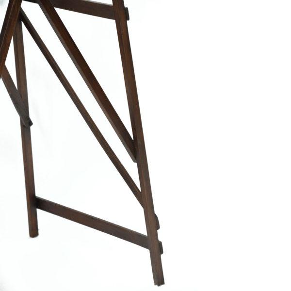 Ancien escabeau en bois pliable d'atelier anciellitude