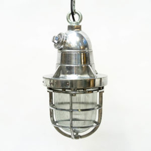 Ceiling Lamp in Polished Aluminium (Chemical Industry) anciellitude