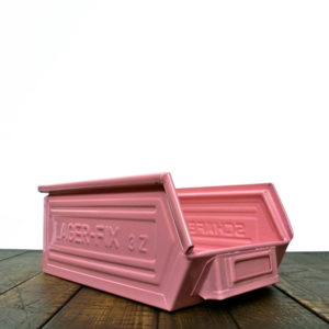 "Coloured metallic crates - ""light pink"" anciellitude"