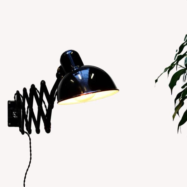 Applique ciseaux Kaiser Idell par Dell, noire anciellitude