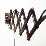 Applique ciseaux Kaiser Idell par Dell, « brut » vernie anciellitude