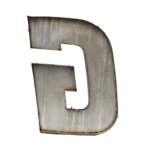 Old Black Letter G of Signboard Made of Zinc  anciellitude