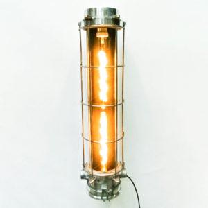 Fluo en fonte d'aluminium grillagé (applique) à ampoules